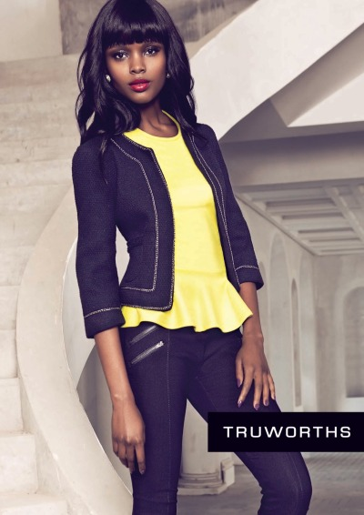 Studio Africa's Flaviana Matata modelling for South African fashion retailer Truworths
