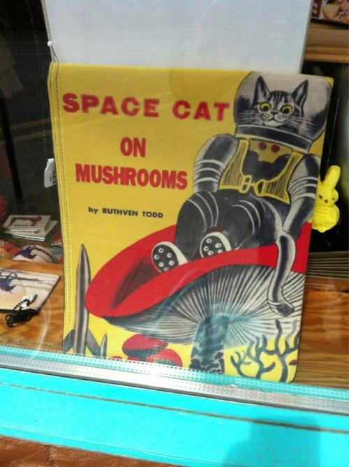 Space Cat on Mushrooms