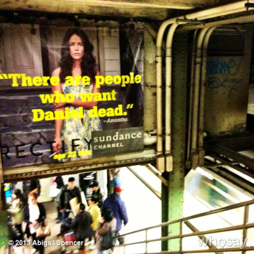look up. get #RECTIFY 'd. the subway take over continues. #AMANTHA #NYC @RectifySC @SundanceChannel #April22ndView more Abigail Spencer on WhoSay