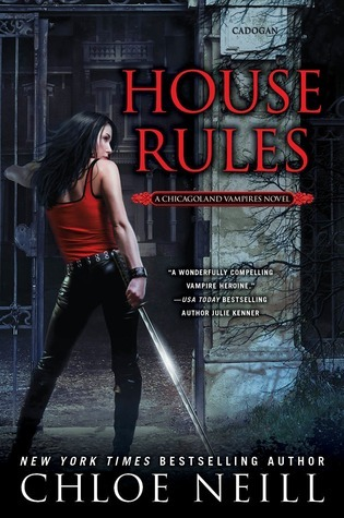 "House Rules (Chicagoland Vampires #7)- Chloe Neill Well, well, well Cadogan House is in a bit of a pickle. This is surprising to no one who reads the Chicagoland series. House Rules focuses around the consequences of Cadogan's decision to leave the GP, but also includes the larger themes of racism, the question of oversight, questions of corruption and power, and so much more. Once again, Merit saves the day with her combination of reckless bravery, Nancy Drew style sleuthing skills, and general bad-assery. She is honestly my favorite heroine of the moment and her sharp tongue and keen intelligence are definitely part of the reason why. And while Ethan and Merit have their rocky moments, DEAR GOD, it is so good to have them back. I will never, ever, ever take them for granted again after what Neill pulled in Hard Bitten. I also like how Mallory and her relationship with Merit is realistic after the previous events have all but destroyed their friendship. I am growing more concerned about the political situation which I'm sure will be a big part of the next book. I just want a shirt or something that says ""I stand Sentinel for Cadogan House"" just to wear around on weekend. Bonus if it comes with the sword. Overall: A  House Rules is out now. Get your copy here."