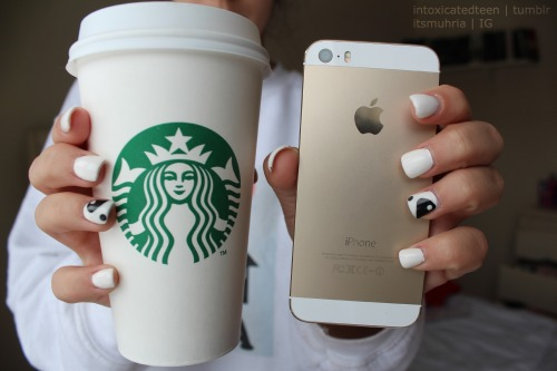 Case Design how do you clean a phone case : starbucks and gold iphone = basic white girls cx IG: quality ...