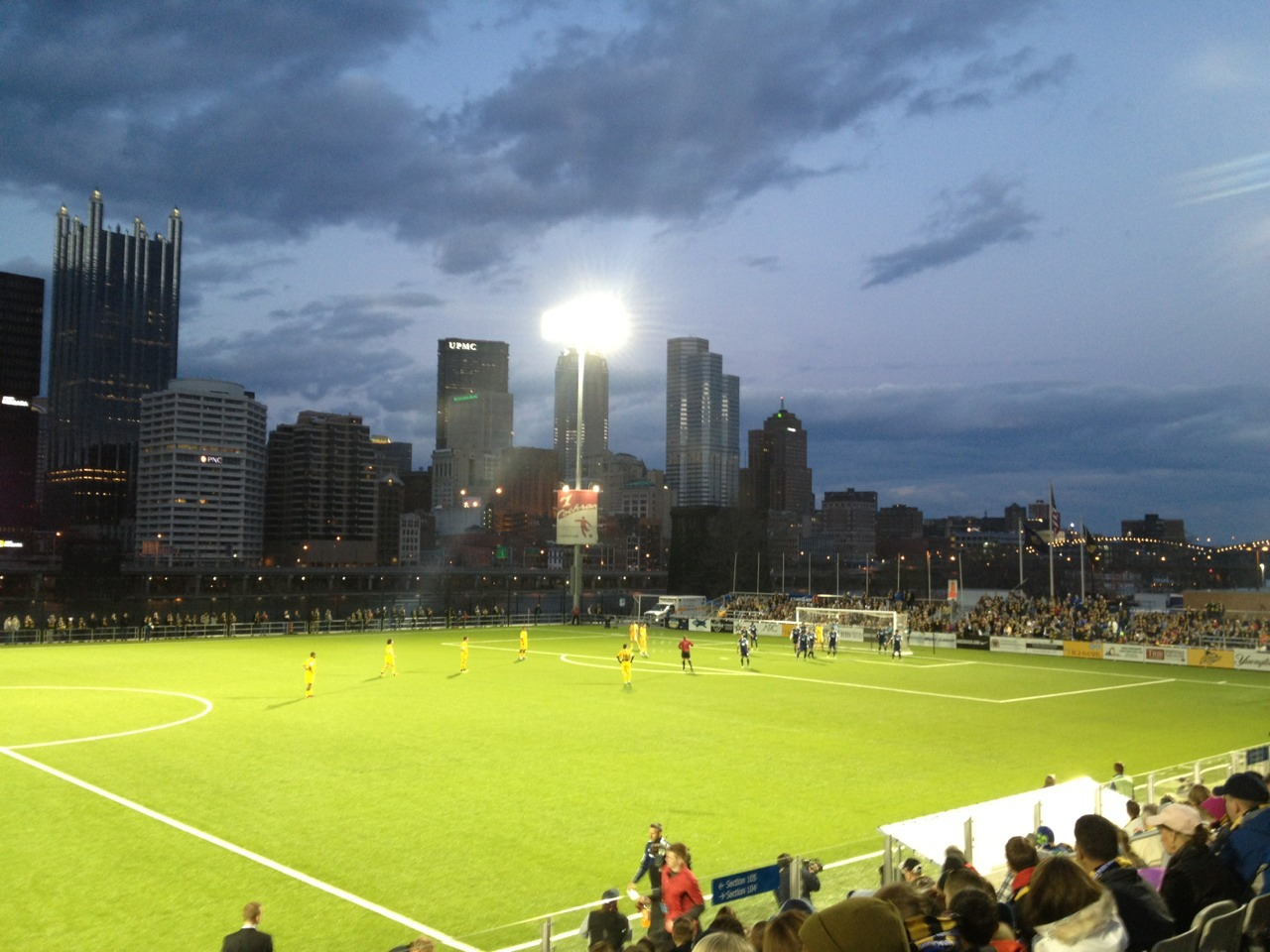 Soccer night in Pittsburgh