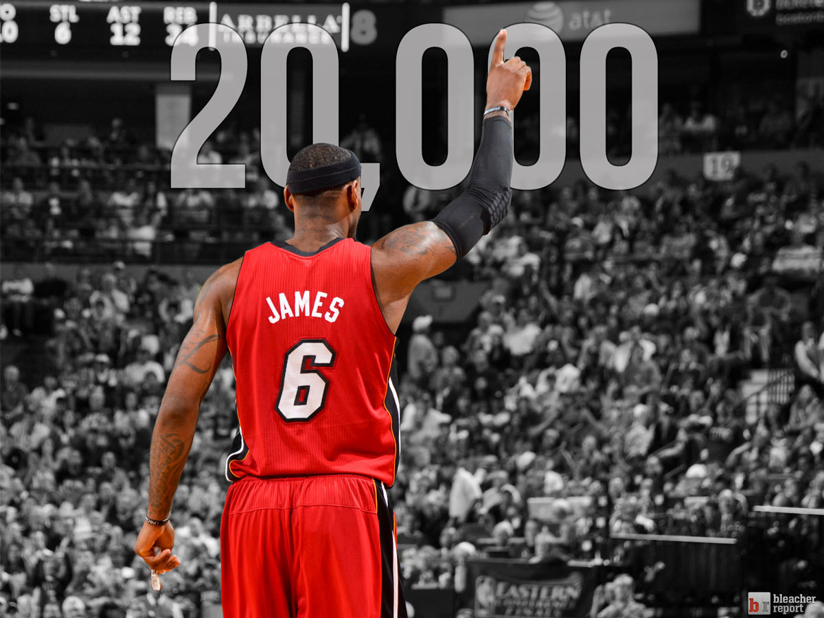 bleacherreport:  Congrats to LeBron James on becoming the youngest player in NBA history to reach 20,000 career points!
