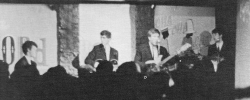 The Beatles at the Odd Spot on March 22, 1962, photographed by Alan Swerdlow