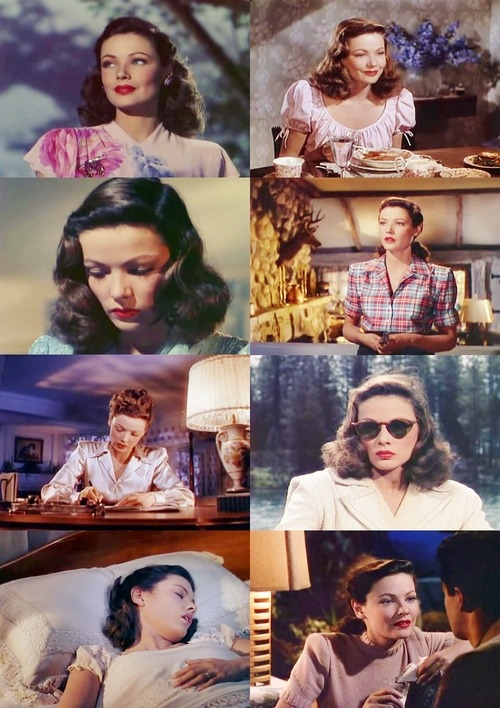 thenormadesmond:  Gene Tierney in Leave Her to Heaven, 1945