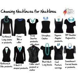 truebluemeandyou:  Necklaces for Different Necklines Created by Imogen Lamport from Inside Out Style here. There's also a link to Polyvore for all the individual pieces. First seen on Donatella's inspiration & realisation Facebook page.
