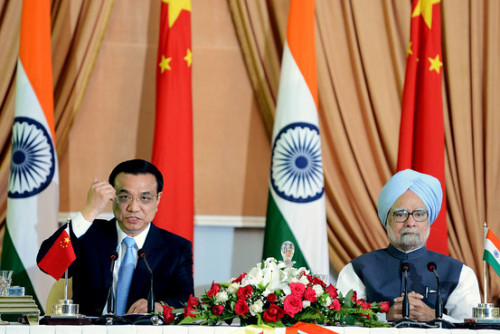 China and India signed eight agreements during the first full day of Chinese Premier Li Keqiang's visit to India. 1. Buffalo Meat 2. China has agreed to provide more information about how its dams are affecting the flow of rivers 3. Pilgrims 4. Sewage 5. Working groups 6. Water technology 7. Translation of books 8. Twinning (via India-China Agreements: No. 1, Buffalo Meat - India Real Time - WSJ)