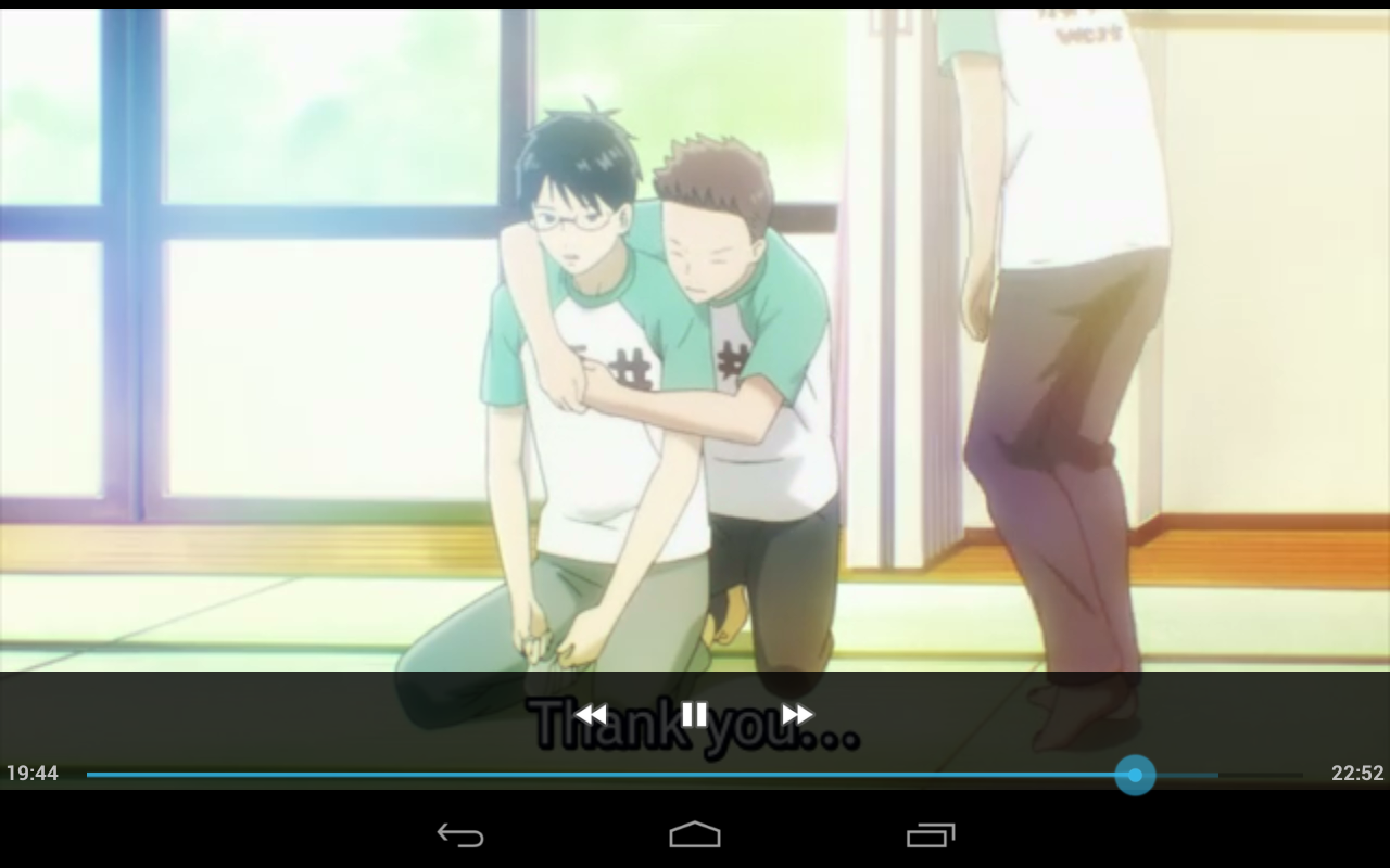Here we witness the hug of gay xD finally this series starts! BTW this is from chihayafuru season 2 ep…8? Or 9? I forget xD but is funny