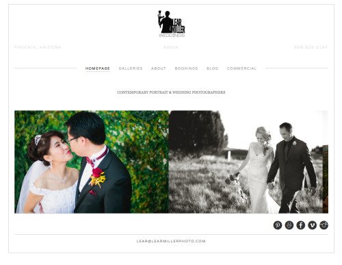 New wedding specific website up and running. check it out at www.LearMillerWeddings.com