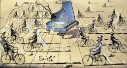 proto-merkabah:  Salvador Dali (1904-1989) - Study for Sentimental Colloquy, 1944