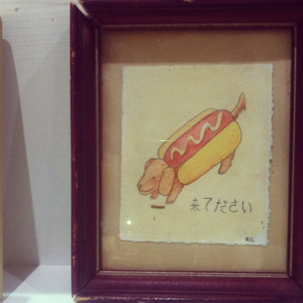 You should come #ooaks13 #hotdogdog #dachshund #illustration