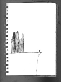 "michaeldonovan:  ""Jump"" - A sketch from my notebook"