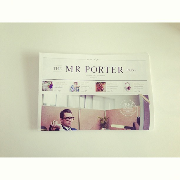 Afternoon read just arrived #mrporter #menswear #mrporterpost