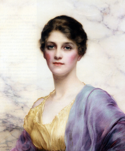 William Clarke Wontner, An Emerald Eyed Beauty, (1916)