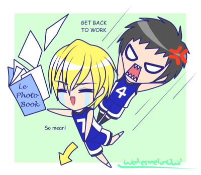 watermelonowl:  Kasamatsu stahp bullying Kise omggg Nah, I still ship it On Deviantart