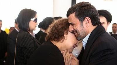 "Sharia in action in Iran: Ahmadinejad under fire for hugging woman at Chavez funeral    The mullahs are fine with his genocidal threats against Israel, but hug a woman? That's going too far! ""Bitter-'sweet embrace': Ahmadinejad slated for hugging Chavez's relative,"" fromal Arabiya, March 10 (thanks to all who sent this in): Iranian President Mahmoud Ahmadinejad is under the spotlight once again for another controversial move. But this move is much ""softer"" than nuclear war games or the occasional lashing out at Israel or America. This time, it's a hug. Ahmadinejad came under heavy criticism after a picture on Friday showed him embracing a woman at the funeral of Venezuelan President Hugo Chavez, according to the website of the Iranian parliament reported. While the identity of the woman who received Ahmadinejad's apparent act of sympathy was at first unclear, the woman appeared to be Chavez's mother Elena Frias, according to AFP news agency. Most of those who criticized the embrace are Iranian conservatives who staunchly supported the president during the Iranian presidential elections held in June 2008. Iranian MP Mohammed Dehghan said, in an implicit reference to Ahmadinejad, that such an act by a prominent executive official opposes the behavior of a Muslim who is constrained by religious commitments. Dehghan also criticized the ""perverted group"" - a term used by Supreme Leader of Iran Ali Khamenei's supporters to describe the circle close to Ahmadinejad - warning of the wide spread of this group in Iran. 'Un-Islamic' He also called on religious scholars to seriously confront Ahmadinejad's ""un-Islamic"" acts. Former MP Hojatoleslam Mohammed Taghi Rahbar, who supported Ahmadinjed during the previous presidential elections, said the president lost control over the situation during the funeral of Chavez. The Iranian president has previously sparked the conservatives' outrage after he announced a national day of mourning following the death of Chavez. The move was described as ""an illegal precedent."" Prominent Shiite religious figures have called on Ahmadinejad to be better knowledgeable on his religion. They have also called on him to avoid making statements relevant to religion during the rest of his presidential term, which ends in August, to prevent stirring domestic tensions. In his eulogy of Chavez, Ahmadinejad said the former ""will come again along with Jesus Christ and Al-Imam al-Mahdi to redeem mankind."" The statement sparked further criticism as some Iranian clerics accused Ahmadinejad of committing a sin by saying that ""Chavez's soul will return and that he will come again after the appearance of the (Hidden) Imam.""   Well, certainly there is nothing in Islamic eschatology about Jesus and the Imam Mahdi being accompanied by a Venezuelan dictator."