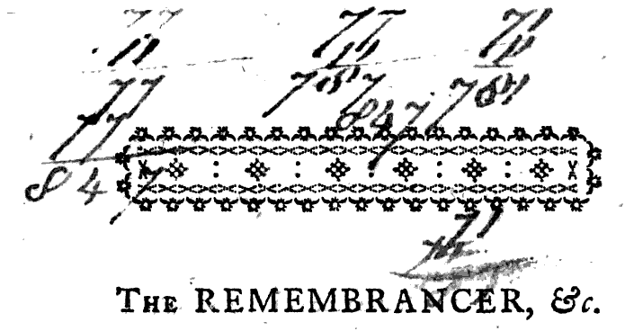 Arithmetic. From p. 1 of The Cork Remembrancer by John Fitzgerald (1783). Original from the New York Public Library. Digitized October 18, 2007.