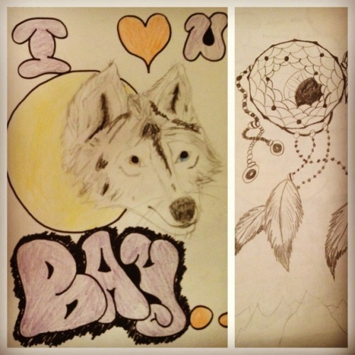 Two things my lovely boyfriend drew for me.