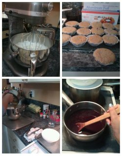 Baking Ube Mamon with mommy (:
