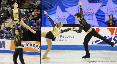 Lauren Gifford and Timothy LeDuc's free skate costumes at the 2010 Novice US Nationals.
