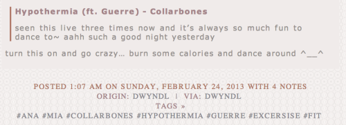 having your song posted on a pro eating disorder tumblr is not exactly the ideal result is it