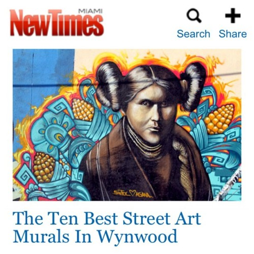 Made to Miami New Times blog. Best 10 murals painted around wynwood….we are number 5! #dj_agana and #Sintex #wynwood #artbasel 2012 #streetart