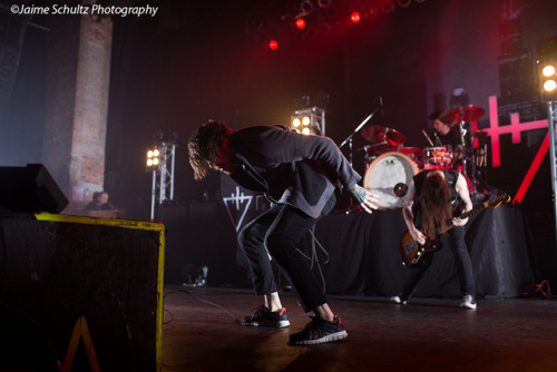 jaimebandphotography:  The Devil Wears Prada on Flickr. Mike Hranica, Jeremy DePoyster, Daniel Williams The Devil Wears Prada The Paramount Huntington, NY 3/20/13