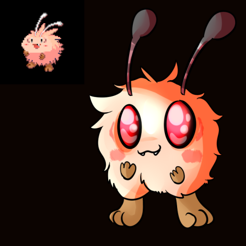 deviousdevisal:  Clefanat - Bedbug Pokemon It's a light type wink wonk