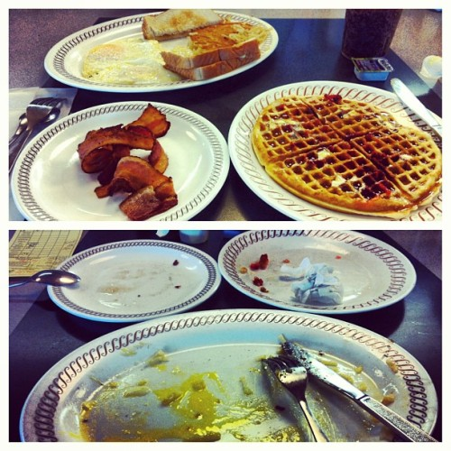 This morning's Waffle House conquest. I came, I saw and I conquered. #wafflehouse #food #breakfast #eat #fatty #tx #texas #travel