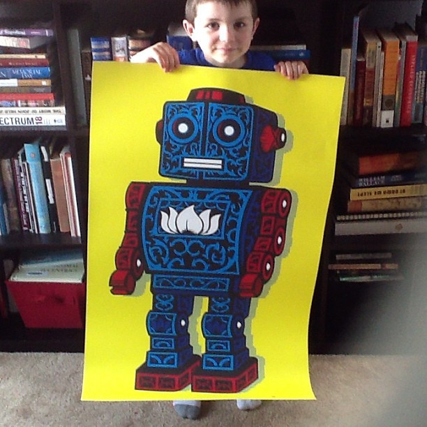 Me and my crew are lovin' our new @samho #giant #robot print! http://samuelho.com/nosmallvictories/