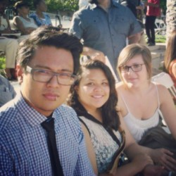 At the convocation with these two plomps. <3