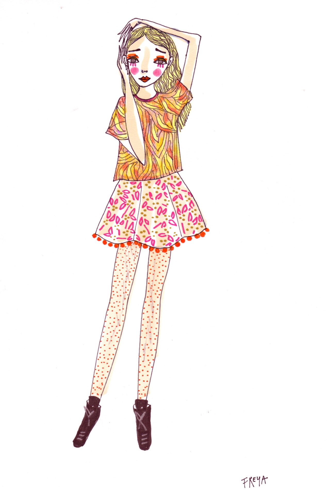 doodoodloo:  They're Spotty Tights, Not Chickenpox// Freya Flavell