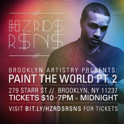 Come see us perform April 6th in #Brooklyn at this live painting event! Go to bit.ly/HZRDSRSNS for tickets! #nyc #music #live #performance #hiphop #electronic #igersofnyc #trap #bass #design #collage #digital