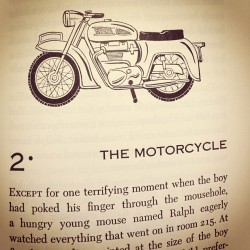 "thebeardedfellow:  We read ""The Mouse and the Motorcycle"" today in 2nd grade."