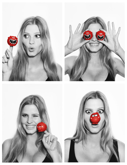 Lara Stone for Comic Relief – Red Nose Day A great cause to help raise money for people in need… We like!