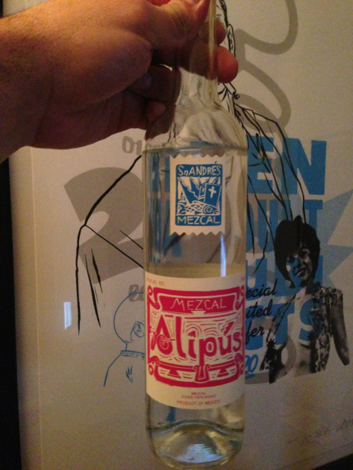 Picked up this bottle over the weekend. Alipus' San Andres. Pretty affordable mescal with some nice flavors. It's bright with some nice citrus and agave sweetness but comes back to some earthiness and alcohol. For like 40 bucks this shit is so worth swooping. You'd be advised to fuck with it.