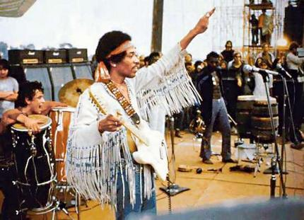 marinedelm:  Jimmy Hendrix at Woodstock Festival