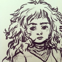 I said I wasn't gonna draw but…#doodles #dailydoodle #ink #moleskin