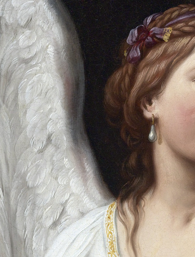 An Allegory of Fame and an Allegory of Virtue (detail) Sirani Elisabetta, 1638-1665.