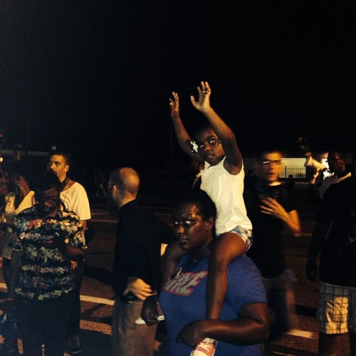 That a 4-year old Black child knows #handsup #dontshoot speaks to the level of #racism in the US #MikeBrown #Ferguson