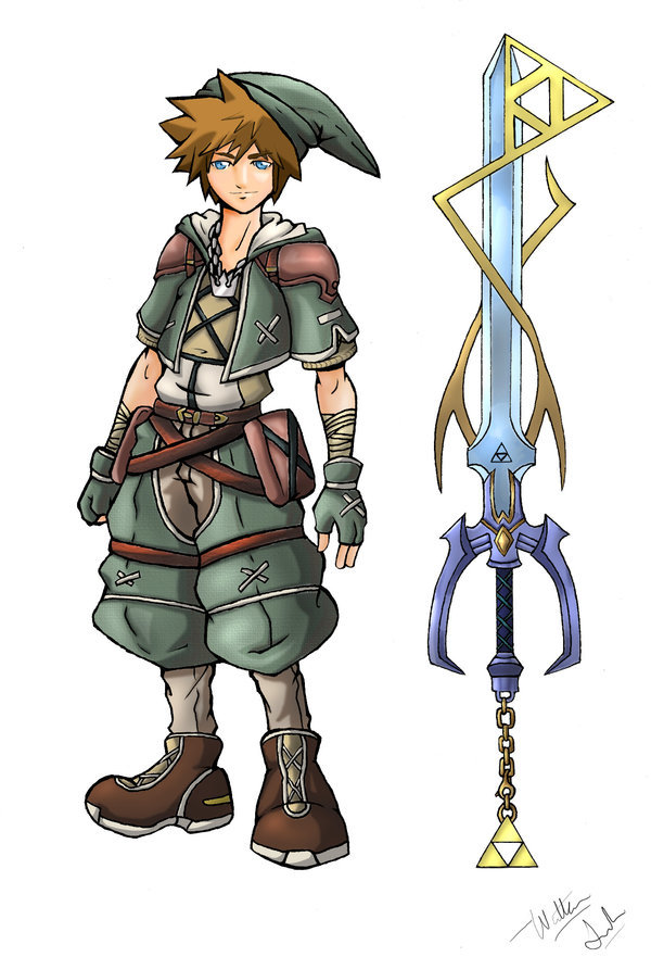 Sora in Hyrule by *TheDeviantArchitect