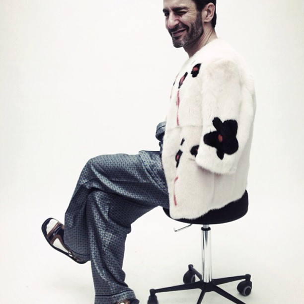 Happy Birthday, Marc Jacobs! Marc Jacobs has done a lot of living over the course of fifty years, and we can certainly say that he only looks better and becomes more successful with each passing year. To see the impact this man has had on fashion, you need only dive into the massive catalogue of handbags, shoes, sunglasses, and runway hits on eBay. Happy 50th, Mr. Jacobs. Here's to another twenty years of ingenuity, creativity, and genuine spectacle. We're glad you were born.  (Photo courtesy of Katie Grand via Instagram. Text by Jenny Bahn)