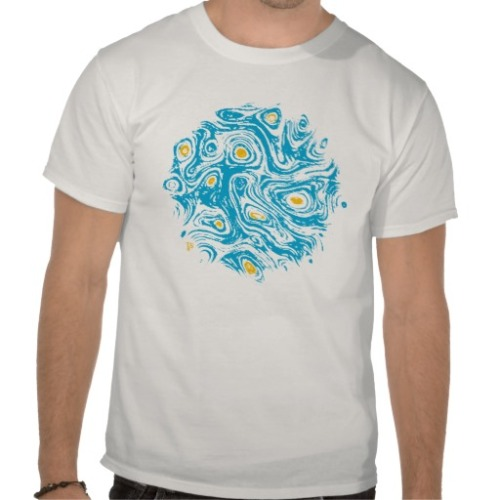 Blue Galaxy T-shirts  / available on TheDancingSquid store Abstract Digital Art