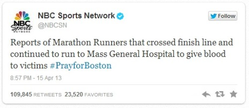 usatodaysports:  Examples of overwhelming kindness following the Boston Marathon explosions.