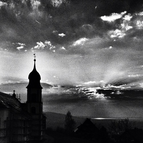 #sunset in #bw (hier: Bildstein)