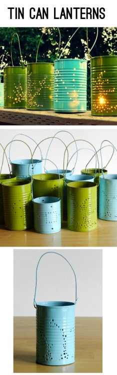 DIY tin can lantern, via Saved By Love Creations