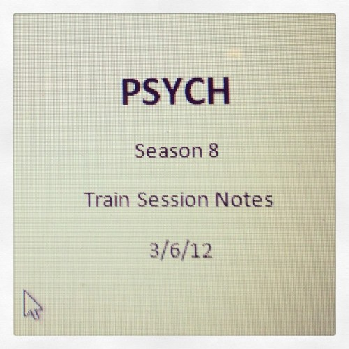 So it begins… #Psych #Season8Dayone #ThankPsychItsWednesday