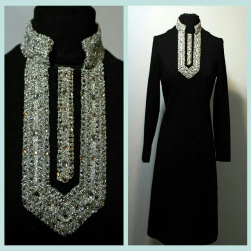 I love the jeweled details on black,.but the BEST PART IS ITS 40% OFF! Buy it at BELLAVINTAGEBETTIES.ETSY.COM (at bellavintagebetties.etsy.com)