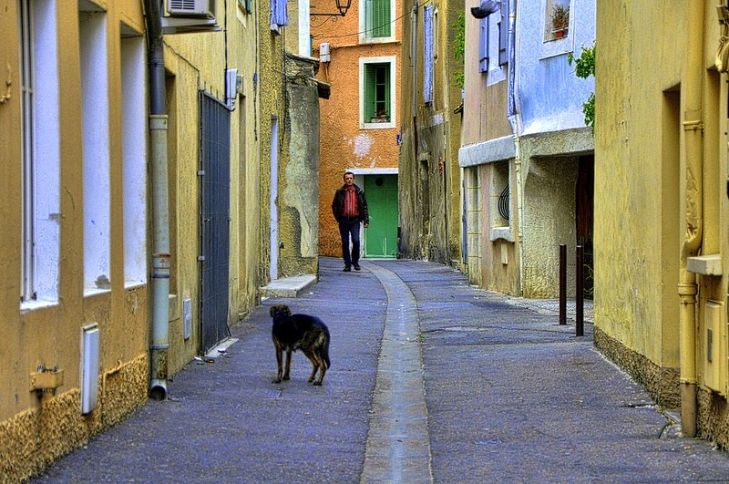 | ♕ |  Backstreet of L'Isle, Provence  | by © Martin Pinker