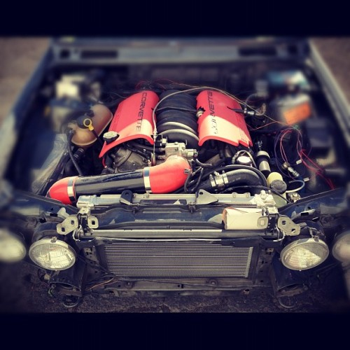 I need an LS1 in my lyfe. Ffffffuuuuuuu #e30 #ls1 #swap #beast #sleeper #r3v